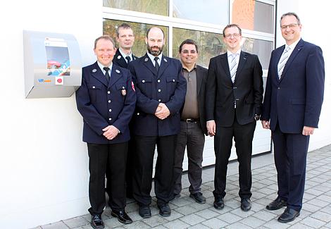 Lebensrettender Defibrillator am Feuerwehrhaus in Echenzell