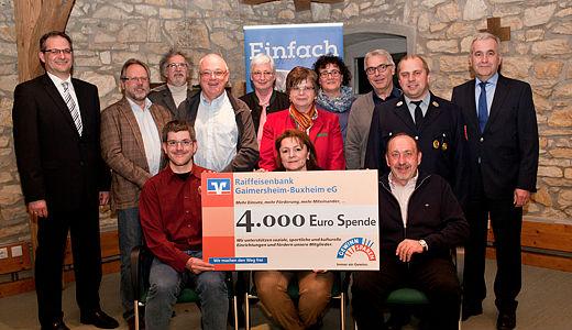 4.000 Euro Spende für soziale und karitative Einrichtungen in Böhmfeld