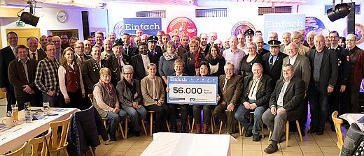 56.000 Euro Spende für soziale und karitative Einrichtungen