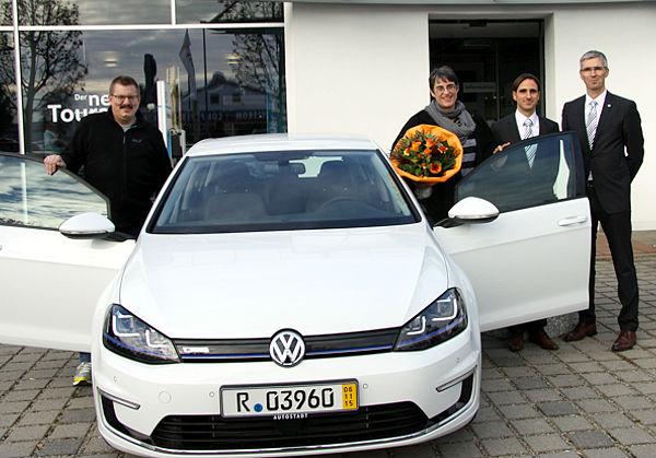 Autoübergabe VW e-Golf