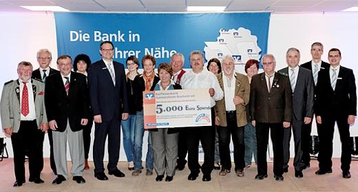 5.000 Euro Spende für soziale und karitative Einrichtungen in Buxheim/Tauberfeld